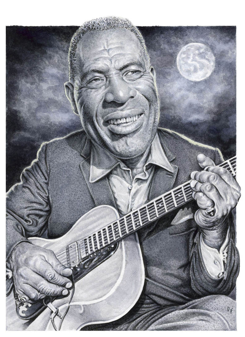 Howlin Wolf Blues Music inspired art print Re-imagined and specially created